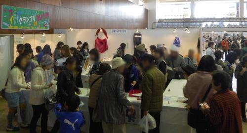 『アイデアグランプリ IN あげお』展示投票会場の様子(平成29年11月)()